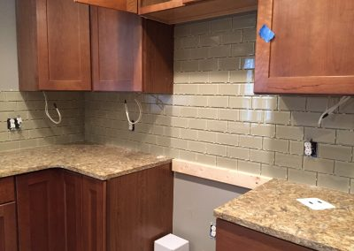 Backsplash Installed